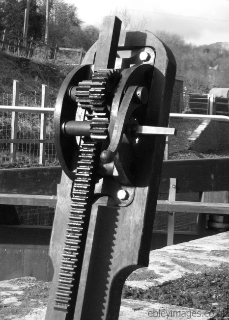 Paddle gear, Ham Mill Lock, Thames and Severn Canal