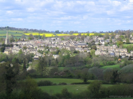 Northern side of Painswick and St Mary's Church