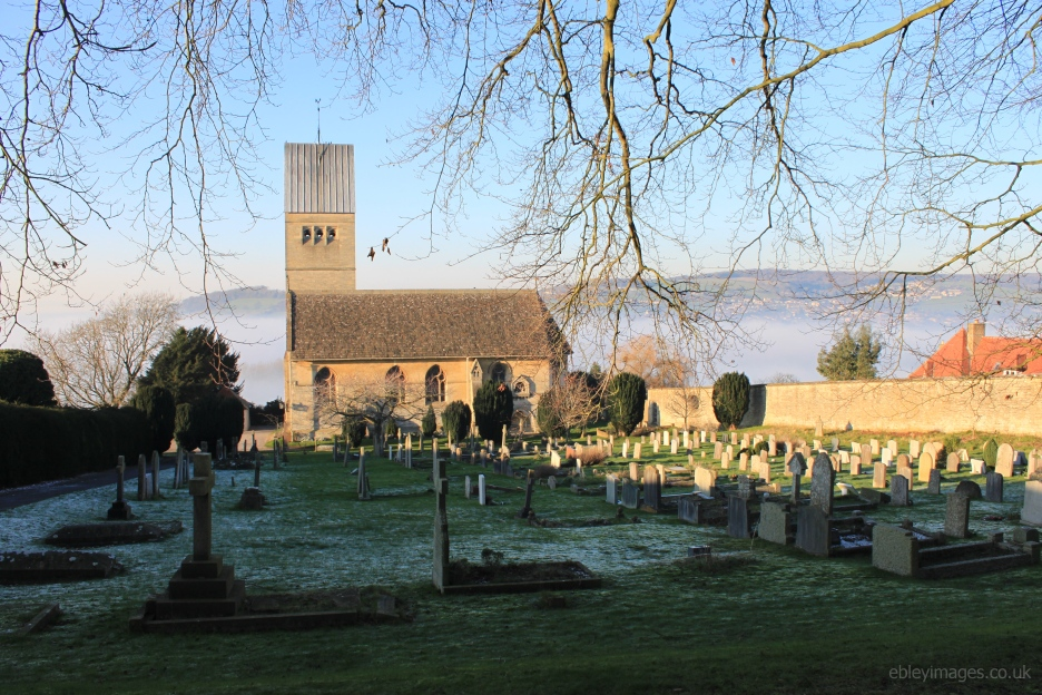 All Saints, Selsley in winter sunshine