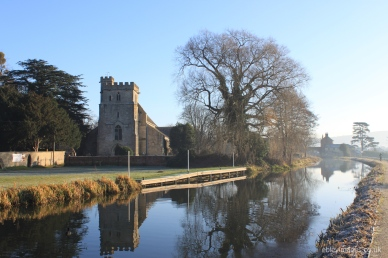 Frosty morning at St Cyr's, Stonehouse